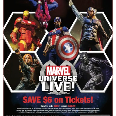 Marvel Universe Live! is coming to Eagle Bank Arena March 22-31, 2019