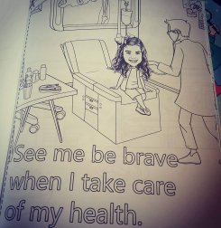 girl at doctor
