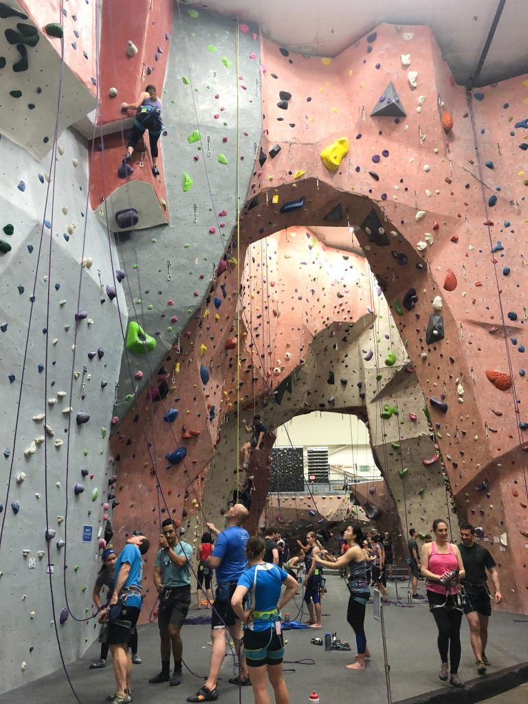 indoor rock climbing walls