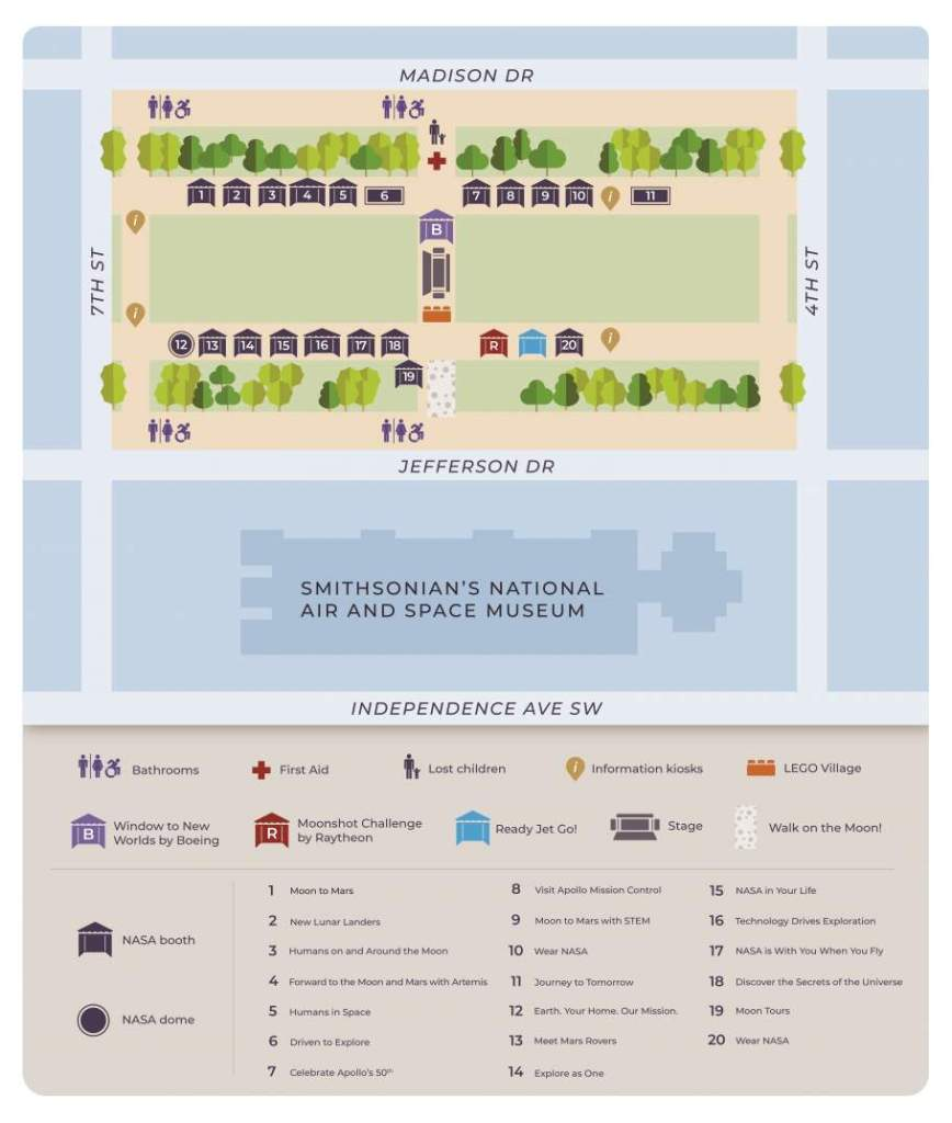 Apollo 50 Festival Map