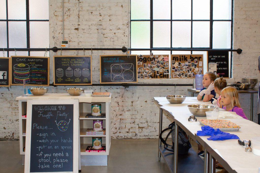 Camp Milk Bar classroom
