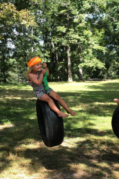 swinging into fun at Camp Twin Creeks