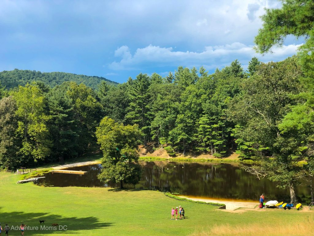 Camp Twin Creeks lake