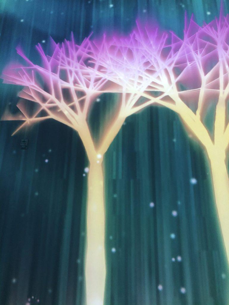 Aurora borealis dancing skies