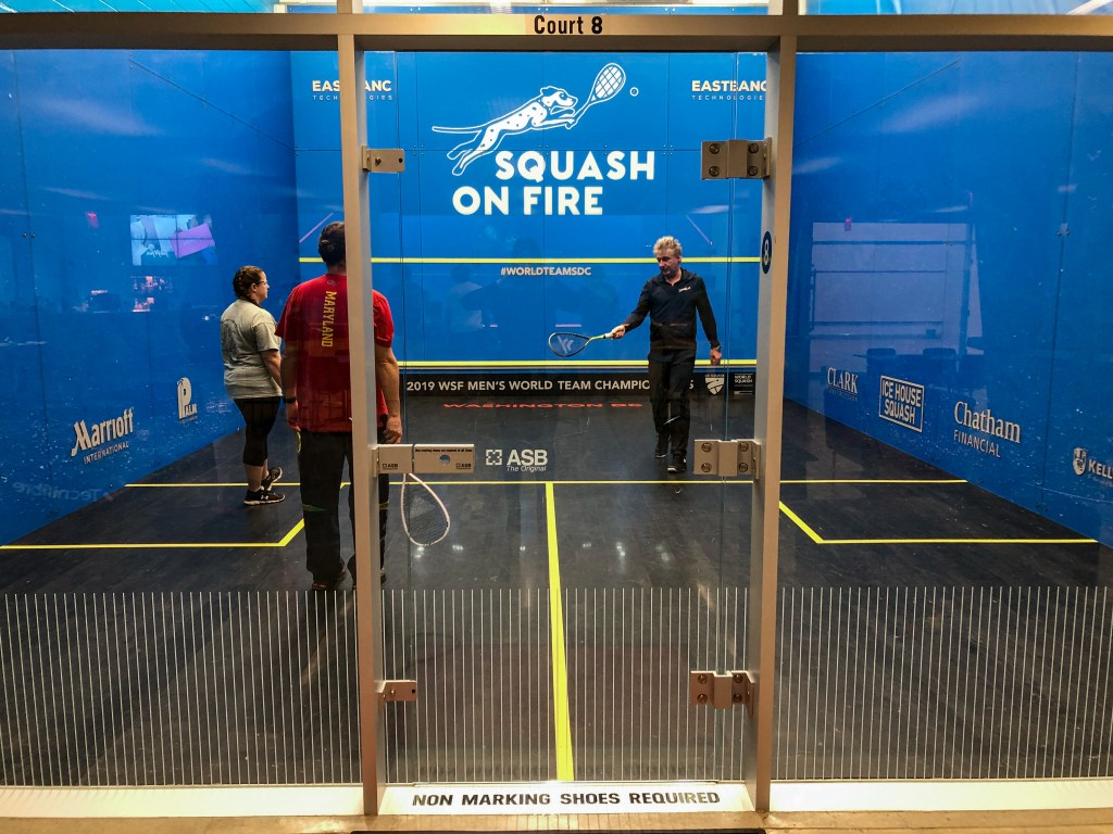 Squash On Fire Glass Court