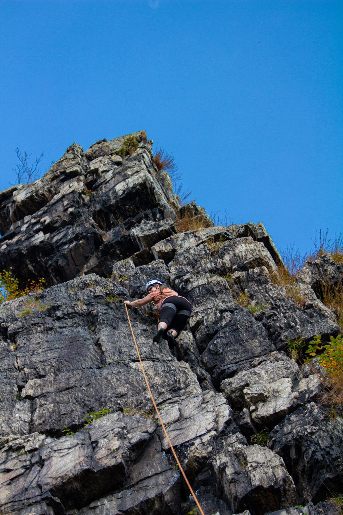 rock climbing mom