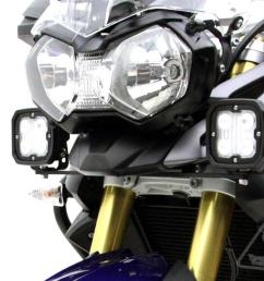 denali auxiliary light motorcycle mounting brackets for triumph tiger 800 800xc  [ 1024 x 800 Pixel ]