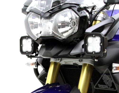 small resolution of denali auxiliary light motorcycle mounting brackets for triumph tiger 800 800xc