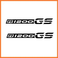 2pcs SET BMW R 1200 GS 2013 LC Liquid Cooled Beak Decal Sticker M1 Black - New design of GS letters from 2013.