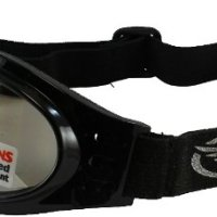 Global Vision Adventure Folding Motorcycle Goggles (Black Frame/Clear Mirrored Lens)