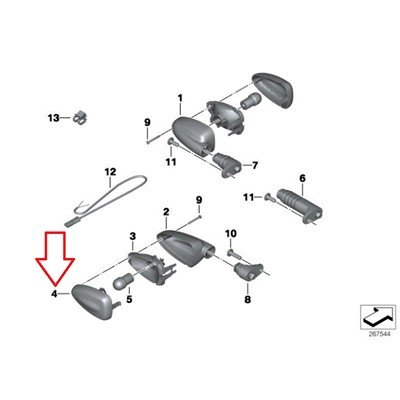 BMW Genuine Turn Indicators White Lamp Lens R1200GS