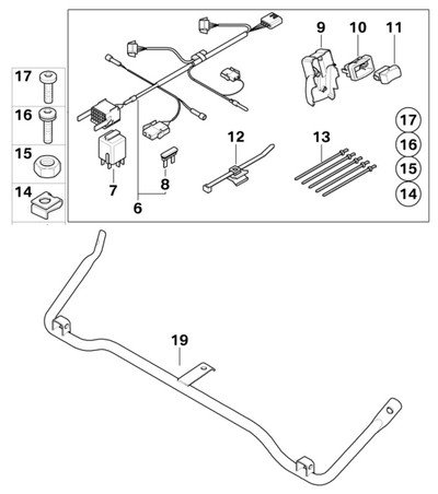 BMW Genuine R1200GS Adventure 08-up Motorcycle Auxiliary