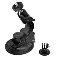 "Ace3C Multi-Purpose Suction Cup Mount Universal Car Vehicle Holder for GoPro Camera Hero4 Hero3+ Hero3 Hero2 Hero, Sony Action Cam HDR-AS15 AS30V AS100V AZ1VR AZ1, SJ4000, and Lightweight Cameras (3.5"" Large Cup)"