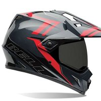 Bell MX-9 Adventure Barricade Red Offroad Motorcycle Helmet Size Large
