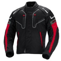 IXS Men's Torres Jacket (Black/Red, Medium)