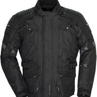Tourmaster Transition Series 4 Men's Textile Motorcycle Touring Jacket (Black, Large)