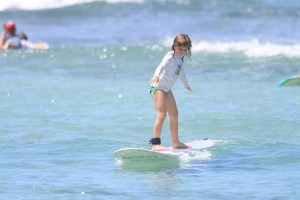 kids learning to surf Hawaii Waikiki Beach