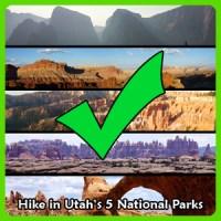 Utah's National Parks check