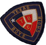 Texas Boys Choir patch
