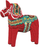 Swedish Dala Horse patch