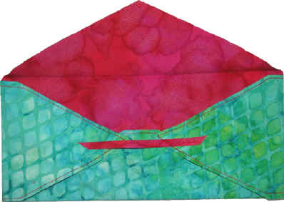 Make a fabric envelope. Ellen Lindner, AdventureQuilter.com