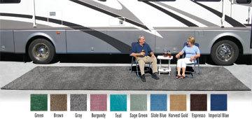 prest o fit patio rug 8 x20 brown