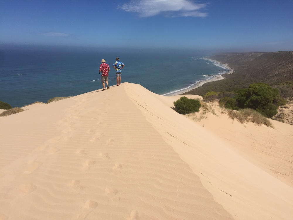 Kim and Jeff on the point of the dune.