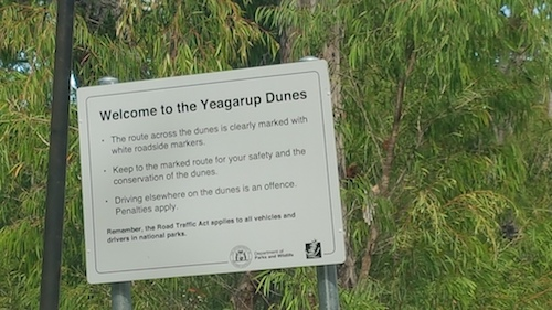 Welcome to Yeagarup Dunes.