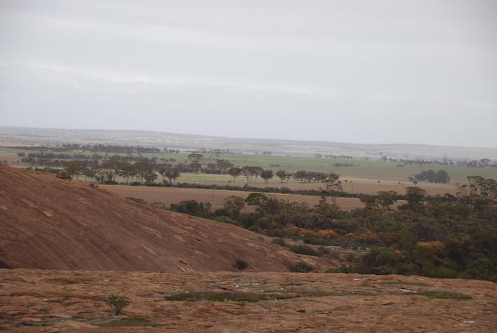 View from the top of Yorkrakine Rock.
