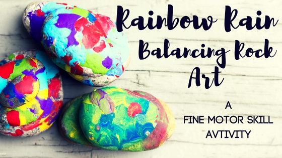 Rainbow Rain Balancing Rock Art