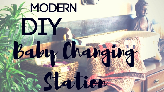 Modern DIY Baby Changing Table Station