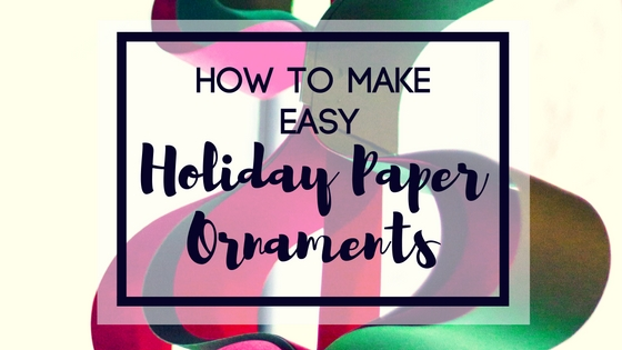 holiday paper ornaments