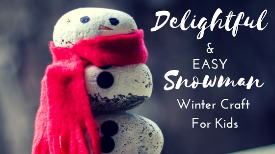 rock snowman winter craft for kids