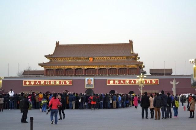 Tiananmen Square and Mao's portrait