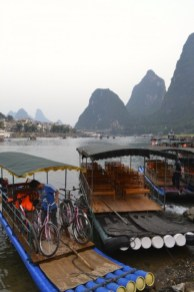 Guilin bamboo raft