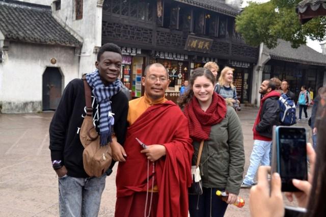 Monks with smartphones
