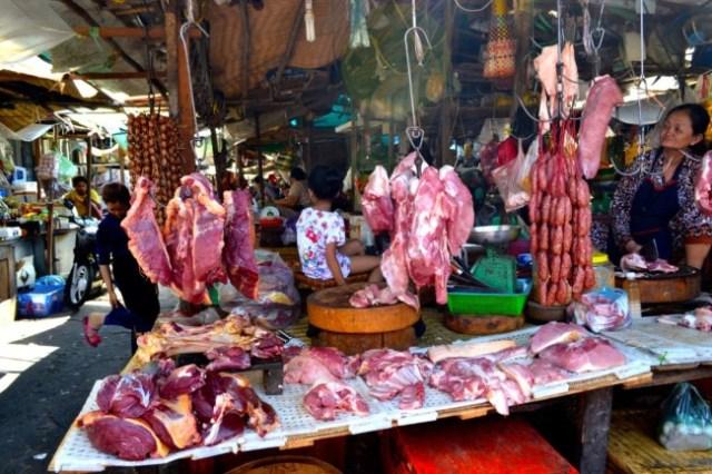 meat market Phnom Penh