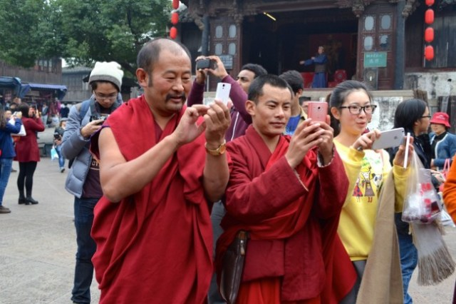 monks cellphones