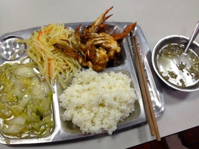 China cafeteria meal