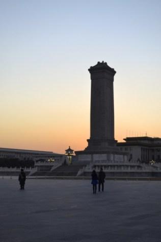 Tiananmen Square sunset