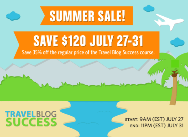 Travel Blog Success Sale