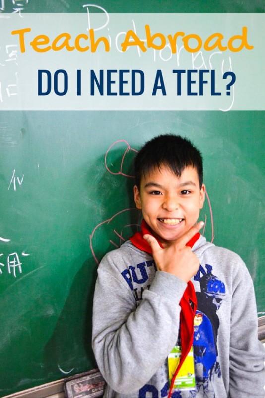 Do you really need a TEFL to teach abroad?