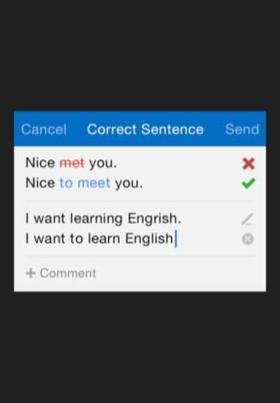 HelloTalk grammar