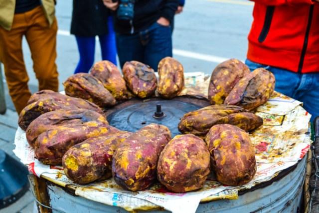 sweet potato street food