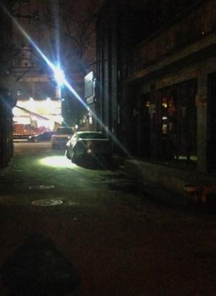Beijing hutong dark