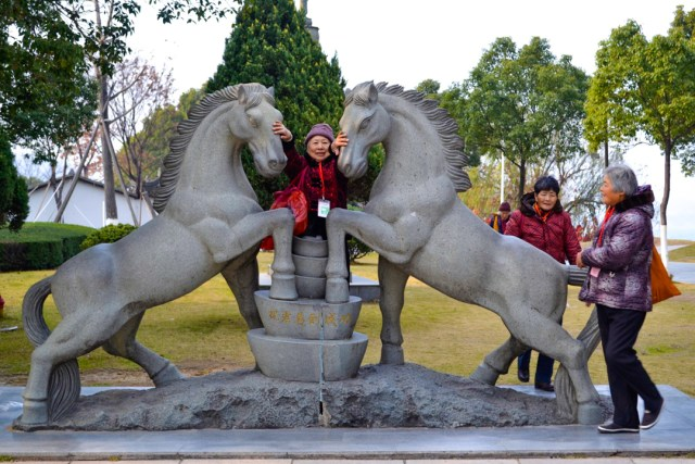 Chinese horse statue