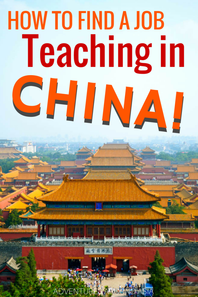 How to find a job teaching abroad in China! Expat life working abroad in China #China #teachabroad #adventuresaroundasia