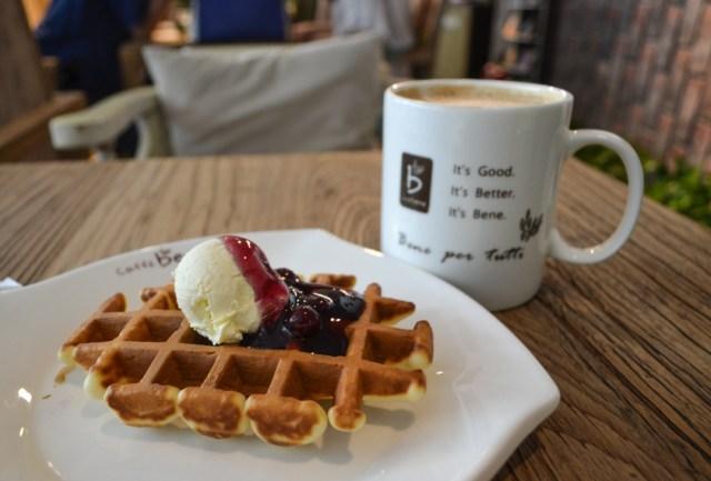 China cafe waffles