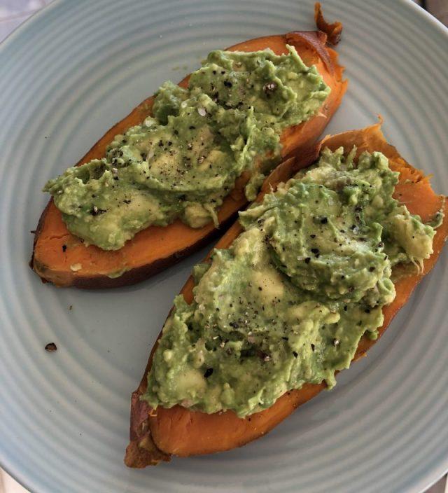 avocado sweet potato toast