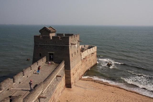 shanhaiguan great wall sea
